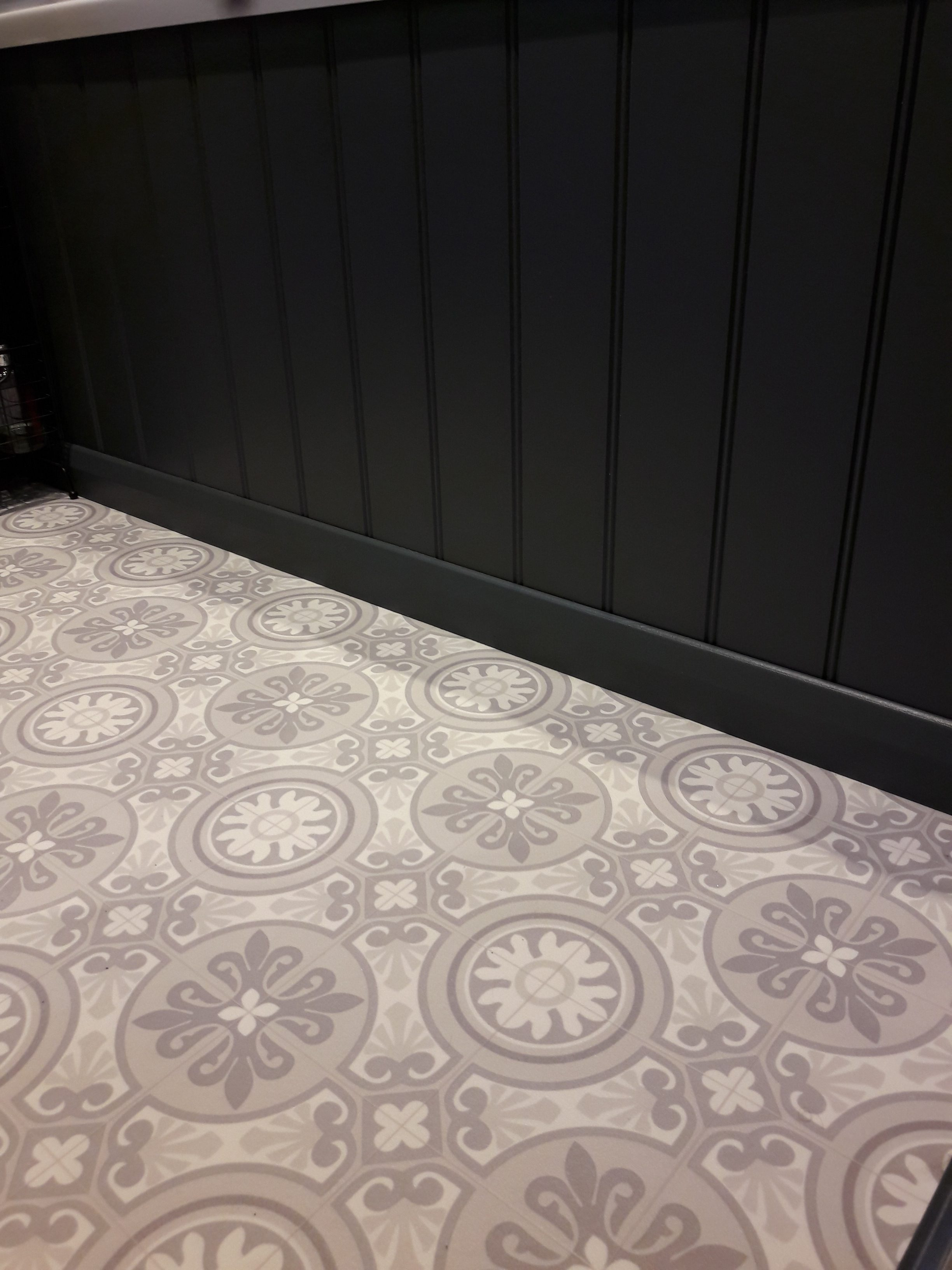 decorative tile vinyl in bathroom, west sussex