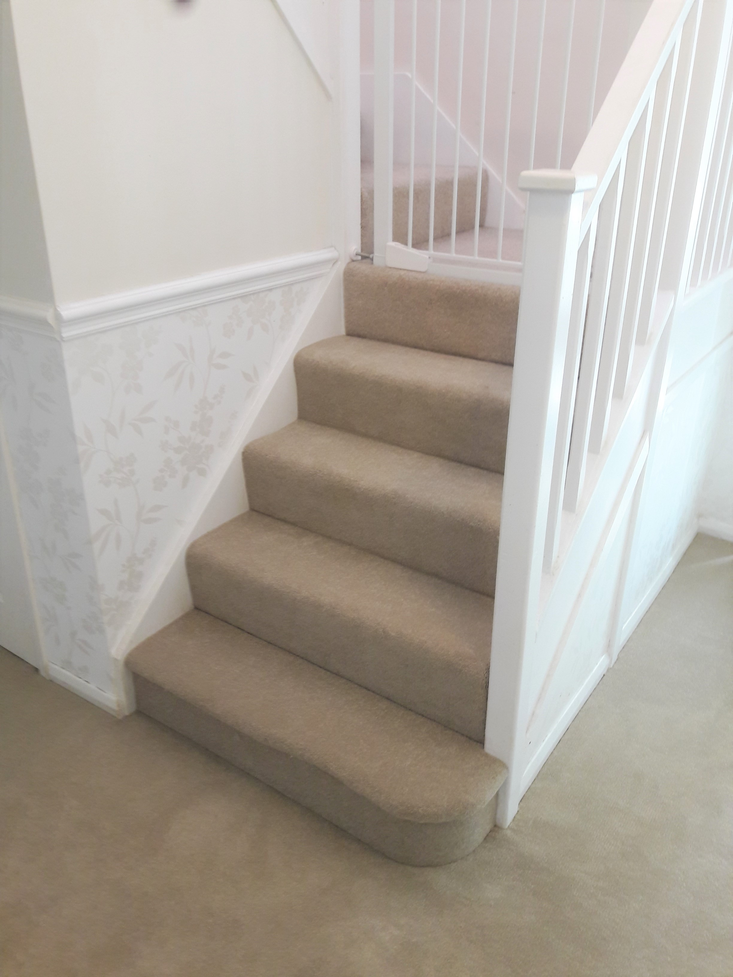 Cormar carpet in hallway and stairs, horsham, west sussex