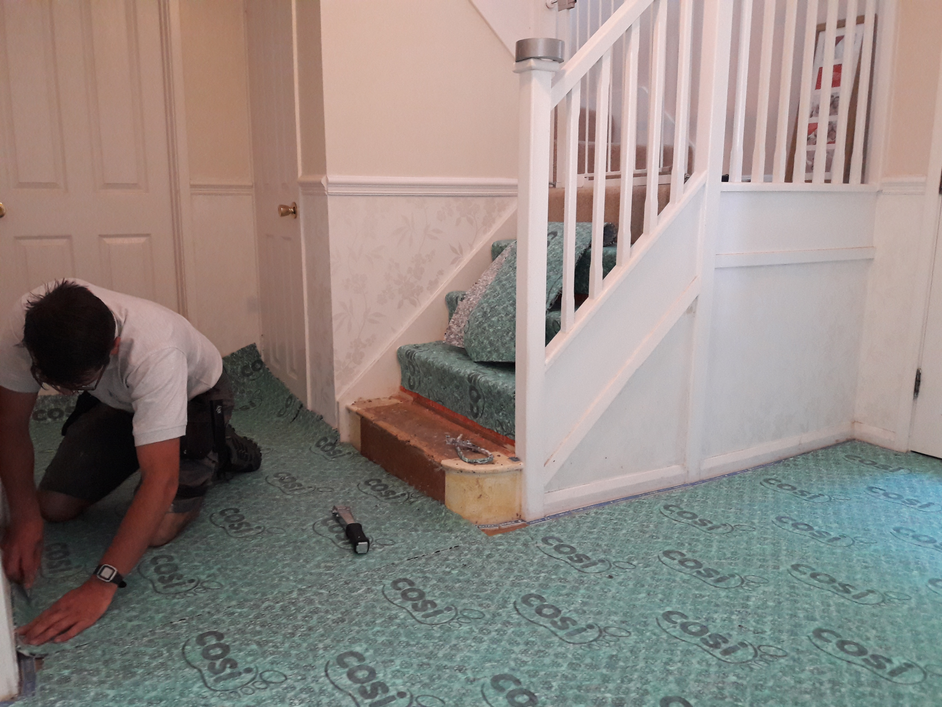 new underlay for hallway and stairs, horsham, west sussex