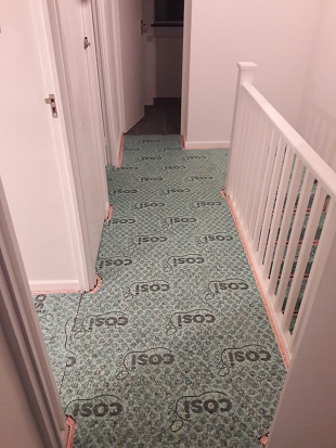 cosi 9mm underlay fitted to rental property