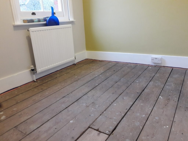 office decorated ready for new underlay and carpet